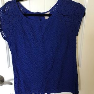 Banana republic Lace blouse royal blue